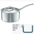 Ruffoni Symphonia Prima Induction-Casserole with lid, hammered polished stainless steel Ø 20 x h 11 cm, 3.5 l