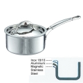 Ruffoni Symphonia Prima Induction Casserole with lid, hammered polished stainless steel Ø 16 x h 8 cm, 1.5 l