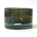 Henry Dean Vase/Windlight Charlotte, low, h 11 x Ø 16 cm, Jet