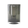 Henry Dean Windlicht Tournon S, H 22 x Ø 15 cm, Gray Smoke
