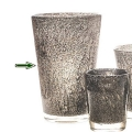 Collection DutZ® vase Conic avec des bulles, h 36 x Ø 24 cm, gris moyen
