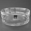 Henry Dean Glass Bowl Cylinder, h 10 x Ø 30 cm, Clear