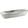 Edzard Basket Basket, shiny silver plated non tarnishing, l 34 x w 13 x h 6 cm
