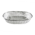 Edzard Basket Basket, shiny silver plated non tarnishing, l 30 x w 21 x h 6 cm