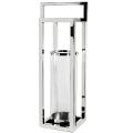 Edzard Laterne/Windlicht Manhattan, glänzend vernickelt/Glas, H 79 x B 23 x T 23 cm