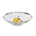 Edzard Bowl/Salad Bowl Cora, crystal glass Platinum coated, h 8 x Ø 27 cm