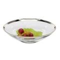 Edzard Bowl/Salad Bowl Cora, crystal glass Platinum coated, h 9 x Ø 33 cm