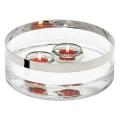 Edzard Bowl/Salad Bowl Grit, crystal glass Platinum coated, h 9 x Ø 25 cm