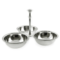 Edzard Serving Bowl Stand Perla, with 3 bowls, shiny QualiPlated® with silver, h 14 cm/bowls h 4 x Ø 11 cm