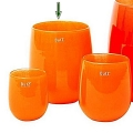 Collection DutZ® Vase Barrique, h 24 x Ø 18 cm, orange