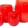 DutZ®-Collection Vase Barrel, h 18 x Ø 14 cm, red