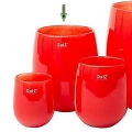 Collection DutZ® Vase Barrique, h 24 x Ø 18 cm, rouge