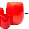 DutZ®-Collection Vase Barrel, h 32 x Ø 27 cm, red