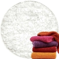 Abyss & Habidecor Super Pile Terry Cloth Guest Towel/Washcloth, 30 x 30 cm, 100% Egyptian Giza 70 Cotton, 700g/m², 100 White