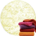 Abyss & Habidecor Super Pile Terry Cloth Guest Towel/Washcloth, 30 x 30 cm, 100% Egyptian Giza 70 Cotton, 700g/m², 103 Ivory
