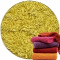 Abyss & Habidecor Super Pile Terry Cloth Guest Towel/Washcloth, 30 x 30 cm, 100% Egyptian Giza 70 Cotton, 700g/m², 211 Citronelle
