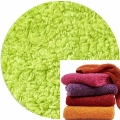 Abyss & Habidecor Super Pile Terry Cloth Guest Towel/Washcloth, 30 x 30 cm, 100% Egyptian Giza 70 Cotton, 700g/m², 231 Lime Green