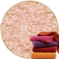 Abyss & Habidecor Super Pile Terry Cloth Guest Towel/Washcloth, 30 x 30 cm, 100% Egyptian Giza 70 Cotton, 700g/m², 501 Pink Lady