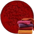 Abyss & Habidecor Super Pile Terry Cloth Guest Towel/Washcloth, 30 x 30 cm, 100% Egyptian Giza 70 Cotton, 700g/m², 553 Rouge