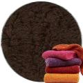 Abyss & Habidecor Super Pile Terry Cloth Guest Towel/Washcloth, 30 x 30 cm, 100% Egyptian Giza 70 Cotton, 700g/m², 772 Dark Brown