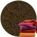 Abyss & Habidecor Super Pile Terry Cloth Guest Towel/Washcloth, 30 x 30 cm, 100% Egyptian Giza 70 Cotton, 700g/m², 773 Pepper