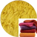 Abyss & Habidecor Super Pile Frottee-Gästetuch/Waschlappen, 30 x 30 cm, 100% ägyptische Giza 70 Baumwolle, 700g/m², 850 Safran