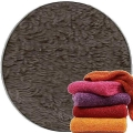 Abyss & Habidecor Super Pile Terry Cloth Guest Towel/Washcloth, 30 x 30 cm, 100% Egyptian Giza 70 Cotton, 700g/m², 993 Metal