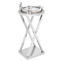 Eichholtz Champagnerkühler/Weinkühler Ständer, Beistelltisch Bullauge, glänzend vernickelt/Glas, H 61 x Ø 32 cm