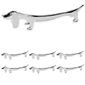 Edzard Knife Rests Dog, set of 6, shiny silver plated non tarnishing, l 9 cm