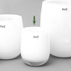 DutZ®-Collection Vase Barrel, h 18 x Ø 14 cm, white