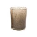 Collection DutZ® vase Conic, h 23 x Ø 20 cm, argent/marron avec cloques