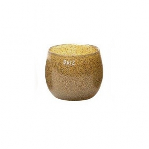 Collection DutZ® vase/récipient Pot, h 11 x Ø 13 cm, argent/marron avec cloques