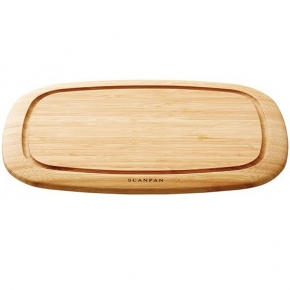 SCANPAN Classic, Serving/Carving/Cutting Board wtih juice groove, solid bamboo, l 35 x w 26 x h 4 cm