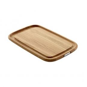 SCANPAN Maitre D', Serving/Carving/Cutting Board wtih juice groove, solid Oak, l 39.5 x w 25 x h 4 cm