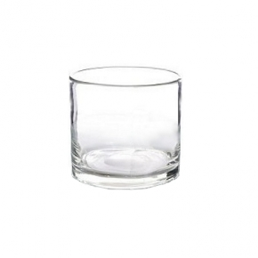 Collection DutZ ®  vase/récipient cylindrique, h 14 x Ø 14 cm, Colori: transparent