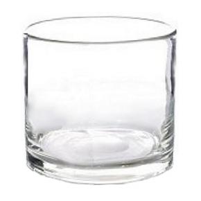 Collection DutZ ®  vase/récipient cylindrique, h 27 x Ø 27 cm, Colori: transparent