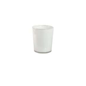 Collection DutZ ®  vase Conic, h 11 x Ø 9.5 cm, Colori: blanc