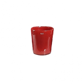 Collection DutZ ®  vase Conic, h 11 x Ø 9.5 cm, Colori: rouge