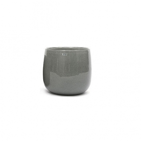 Collection DutZ ® vase/récipient Pot, h 11 x Ø 13 cm, Colori: gris moyen