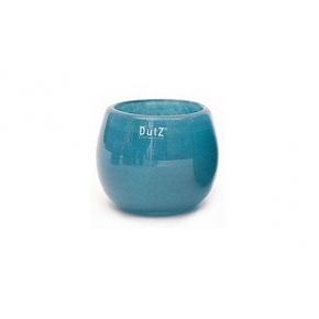 Collection DutZ ® vase/récipient Pot, h 11 x Ø 13 cm, Colori: petrol bleu