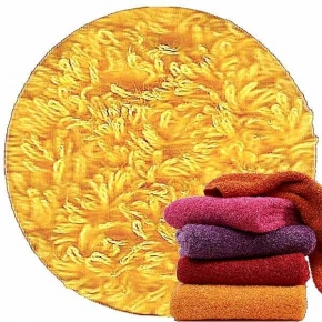 Abyss & Habidecor Super Pile Terry Cloth Towel, 55 x 100 cm, 100% Egyptian Giza 70 Cotton, 700g/m², 830 Banane