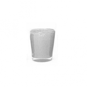 Collection DutZ ®  vase Conic, h 14 x Ø 12 cm, gris moyen