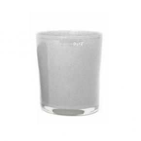 Collection DutZ ®  vase Conic, h 23 x Ø 20 cm, gris moyen