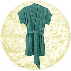 Abyss & Habidecor Summer Bath Robe, 100% Egyptian Giza 70 cotton, 350 g/m², Size S, 103 Ivory