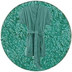 Abyss & Habidecor Summer Bath Robe, 100% Egyptian Giza 70 cotton, 350 g/m², Size S, 302 Lagoon