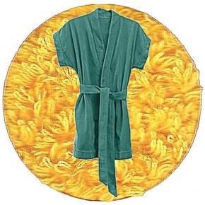 Abyss & Habidecor Summer Bath Robe, 100% Egyptian Giza 70 cotton, 350 g/m², Size L, 830 Banane