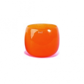 Collection DutZ ® vase/récipient Pot, h 14 x Ø 16 cm, orangé rouge