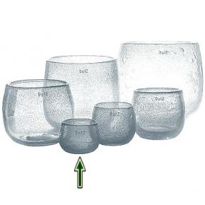 DutZ®-Collection Vase Pot Mini, H 7 x Ø 10 cm, Klar mit Bubbles