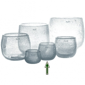 DutZ®-Collection Vase Pot, h 11 x Ø 13 cm, clear with bubbles
