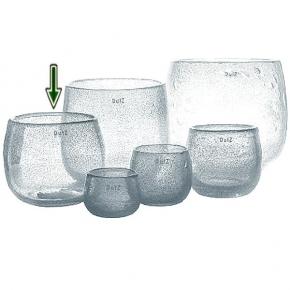 DutZ®-Collection Vase Pot, H 18 x Ø 20 cm, Klar mit Bubbles